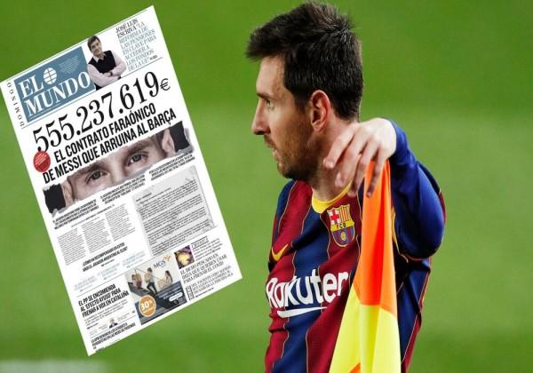 كم تبلغ  قيمة عقد ميسي مع برشلونة في الفترة من 2017 حتى 2021