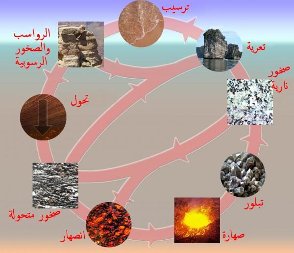 ماذا يمكن أن يحدث في دورة الصخور