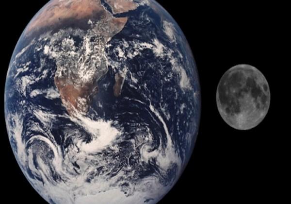 تؤثر جاذبية القمر على الأرض مسببة