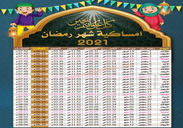 إمساكية رمضان 2021 .. مواقيت صلاة المسلمين خلال شهر رمضان في مصر