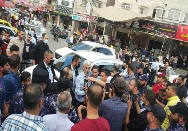 شاهد أول ظهور ليحيى السنوار منذ بدء التصعيد الأخير على غزة