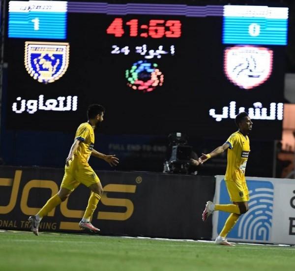 نتيجة مباراة الشباب ضد التعاون في الدوري السعودي