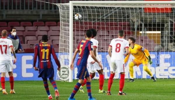 ملخص مباراة برشلونة ضد إشبيلية في بطولة كأس ملك اسبانيا