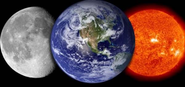 ما الطور الذي تكون فيه الارض بين الشمس والقمر