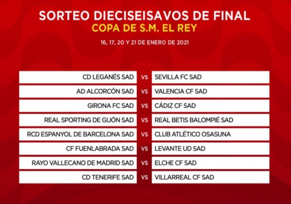 نتائج قرعة دور الـ32 من مسابقة كأس ملك إسبانيا