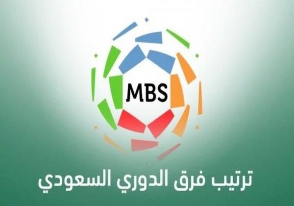 ترتيب فرق الدوري السعودي بعد نتائج مباريات أمس الثلاثاء في الجولة 14