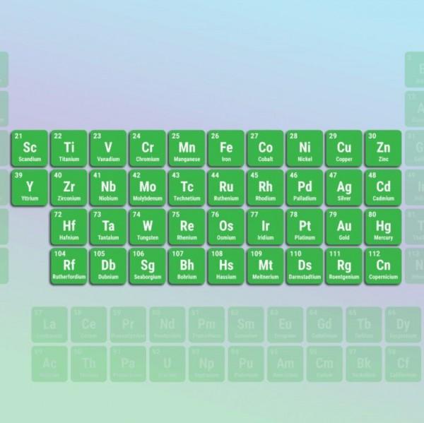 كثافة معظم فلزات عناصر السلسلة الانتقالية الأولى