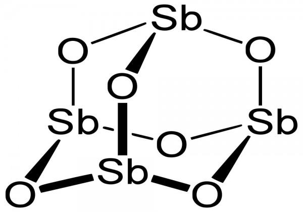 ما هو الاسم الشائع لثلاثي اكسيد الانتيمون