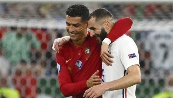كريم بنزيمة يهز تقدم كريستيانو رونالدو في دقيقتين هداف يورو 2020