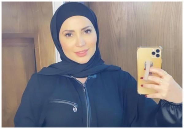 شاهد صورة نسرين طافش بالحجاب