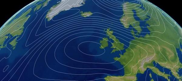 تنشأ الرياح العالمية إذا ارتفعت حرارة الأرض بالتساوي