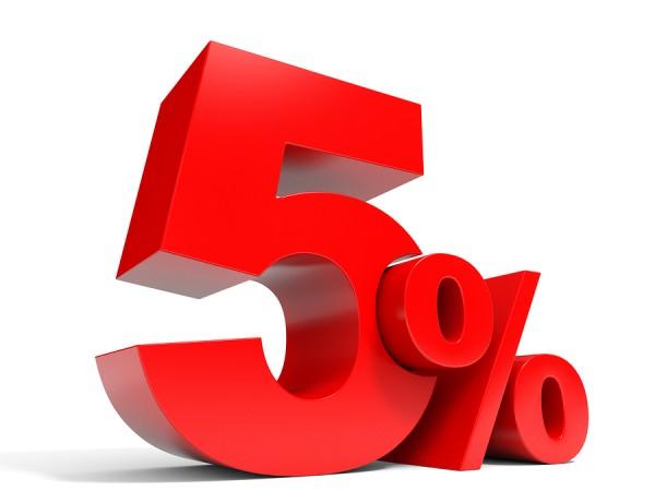 الجواب على السؤال ، الرقم الذي يمثل 5٪ من 60 هو الرقم 3